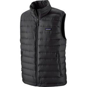 Patagonia Men's Black Down Vest Sz Large